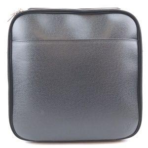 Messenger Black Leather Cross Body Bag